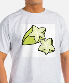 Tasty Starfruit Ash Grey T-Shirt