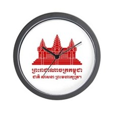 Angkor Wat / Khmer / Cambodian Flag with Motto Wal