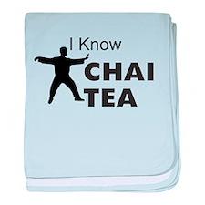 I know Chai Tea baby blanket