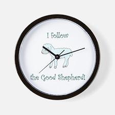 I follow the Good Shepherd Wall Clock