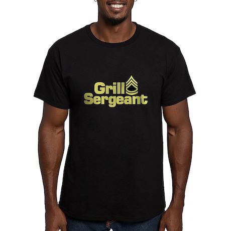 Grill Sergeant Men's Fitted T-Shirt (dark)