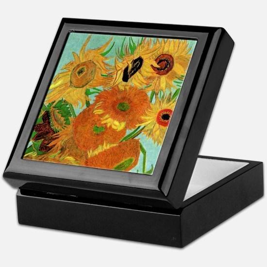 Van Gogh Twelve Sunflowers Keepsake Box
