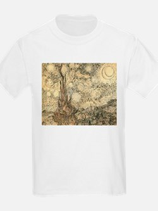 Van Gogh Starry Night Drawing T-Shirt