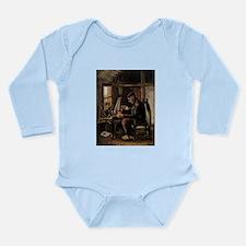 Van Gogh Man Winding Yarn Long Sleeve Infant Bodys