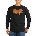 Halloween Pumpkin Cory Long Sleeve Dark T-Shirt