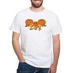 Halloween Pumpkin Cory White T-Shirt