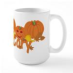 Halloween Pumpkin Cory Large Mug