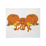 Halloween Pumpkin Cory Throw Blanket