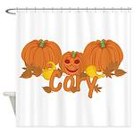 Halloween Pumpkin Cory Shower Curtain