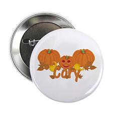 """Halloween Pumpkin Cory 2.25"""" Button"""