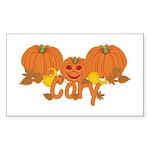 Halloween Pumpkin Cory Sticker (Rectangle)