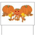 Halloween Pumpkin Cory Yard Sign