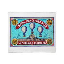 Denmark Beer Label 2 Throw Blanket