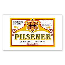 Ecuador Beer Label 1 Decal