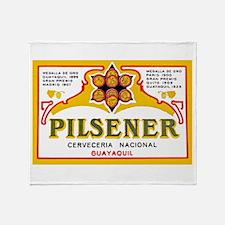 Ecuador Beer Label 1 Throw Blanket