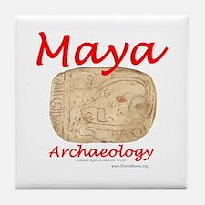 Maya archaeology - Architect Glyph Tile Coaster