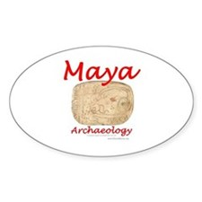 Maya archaeology - Architect Glyph Oval Decal