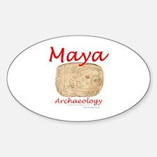 Maya archaeology - Architect Glyph Oval Decal