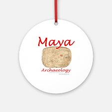 Maya archaeology - Architect Glyph Ornament (Round