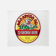 Ethiopia Beer Label 4 Throw Blanket