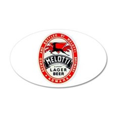 Ethiopia Beer Label 2 22x14 Oval Wall Peel