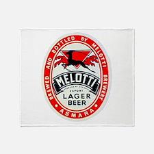 Ethiopia Beer Label 2 Throw Blanket