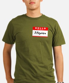 Stephen, Name Tag Sticker T-Shirt