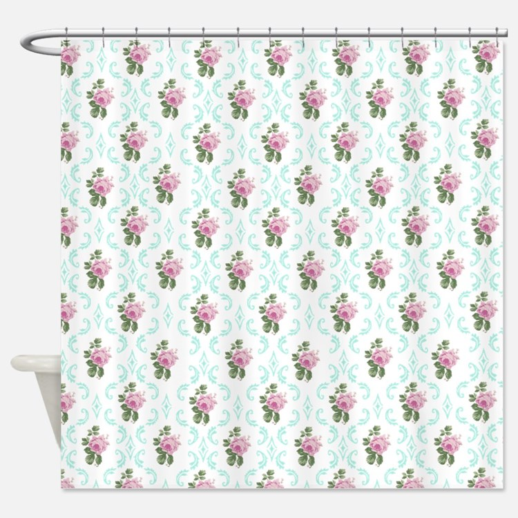 Vintage Floral Pattern Shower Curtains