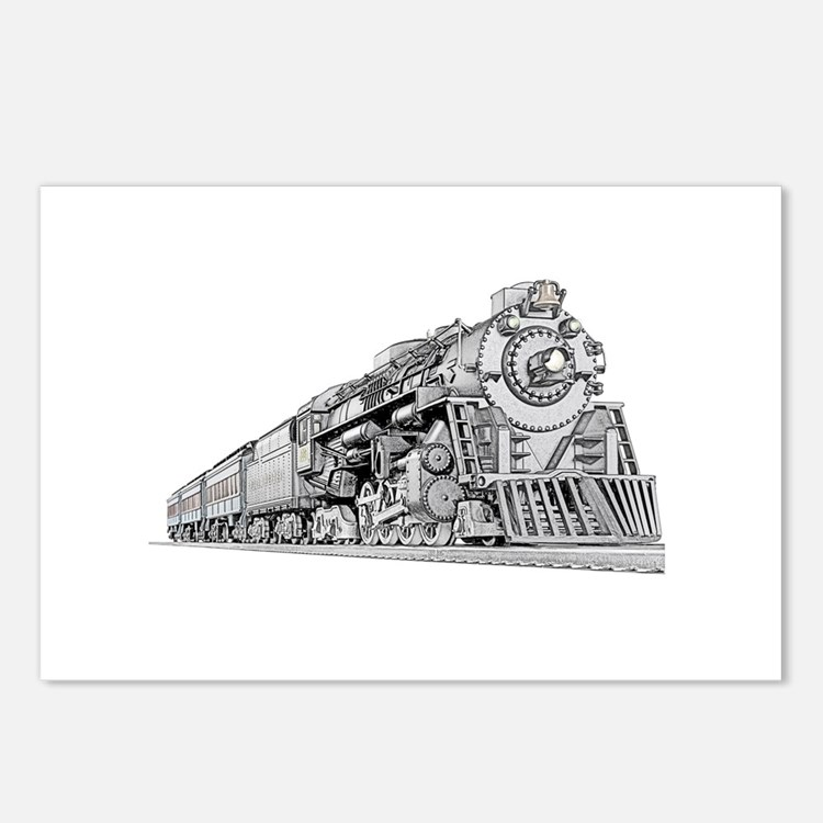 Train engine postcards train engine post card design for Express template engines