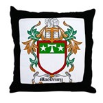 MacDrury Coat of Arms Throw Pillow
