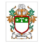 MacDrury Coat of Arms Small Poster