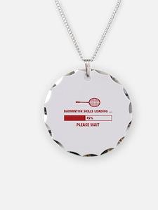 Badminton Skills Loading Necklace Circle Charm