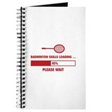 Badminton court Journals & Spiral Notebooks