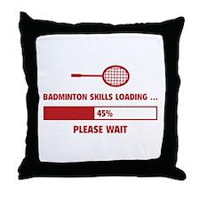 Badminton Skills Loading Throw Pillow