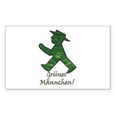 Berlin Gruenes Maennchen Rectangle Decal