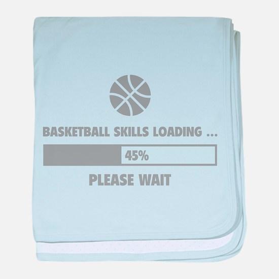 Basketball Skills Loading baby blanket