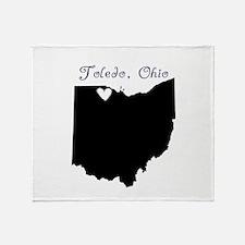 Toledo Ohio Throw Blanket
