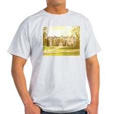 Wroxton Abbey covered in ivy, Ash Grey T-Shirt
