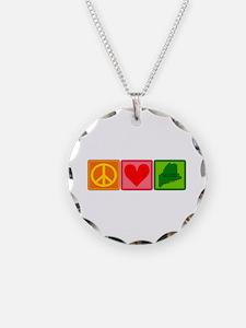 Peace Love Maine Necklace
