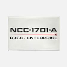 USS Enterprise-A Dark Rectangle Magnet