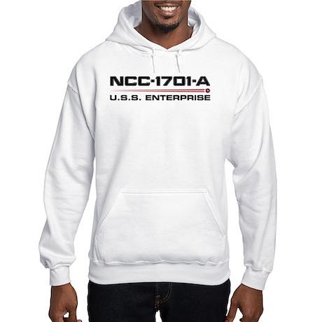 USS Enterprise-A Dark Hooded Sweatshirt