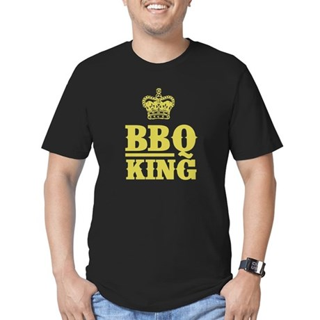 BBQ King Men's Fitted T-Shirt (dark)