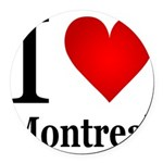 ilovemontreal.png Round Car Magnet