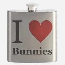 I Love Bunnies Flask
