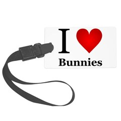 I Love Bunnies Luggage Tag