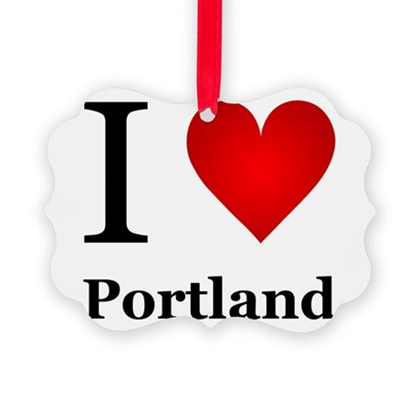 I Love Portland Picture Ornament