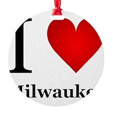 I Love Milwaukee Ornament