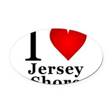 I Love Jersey Shore Oval Car Magnet
