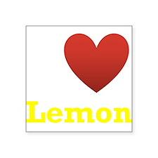 "i-love-lemon-dark-tee-yellow.png Square Sticker 3"""