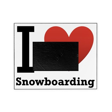 I-Love-Snowboarding.png Picture Frame